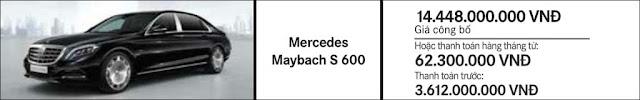 Giá xe Mercedes Maybach S650 2018 tại Mercedes Trường Chinh