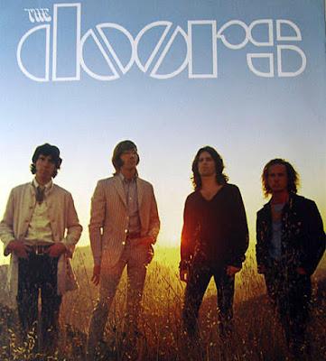 "The Doors... John Densmore... Ray Manzarek... Jim Morrison... Robbie Krieger. Photo shoot for the ""Waiting For The Sun"" album."