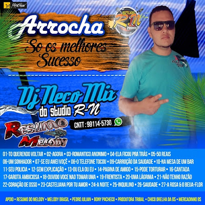 CD ARROCHA DJ NECO MIX DO STUDIO R-N