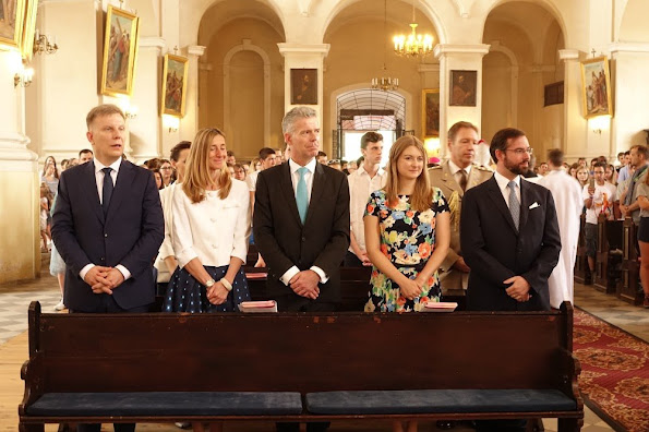 Hereditary Grand Duke Guillaume and Hereditary Grand Duchess Stéphanie visited the town of Lubiąż