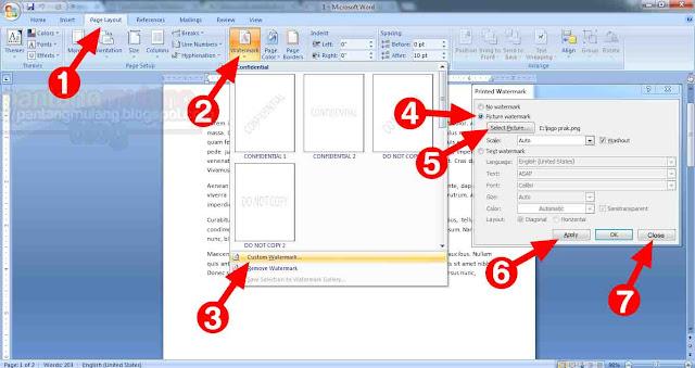 Cara Praktis Membuat Watermark di Microsoft Word