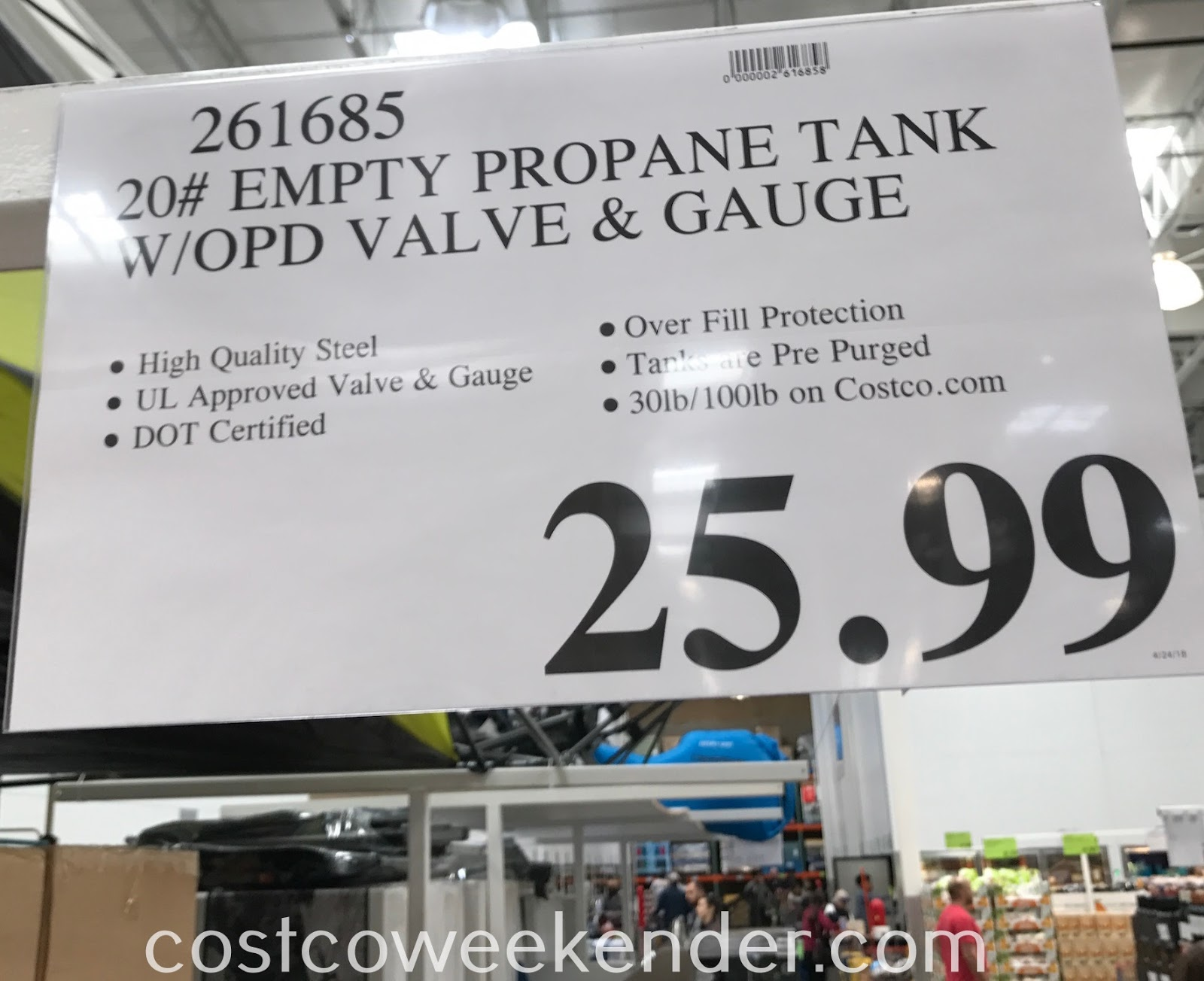 Deal for the Flame King Max 20lb Propane Tank at Costco