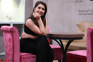 Raashi Khanna Looks Adorable in Black Crop Top and Skirt  Exclusive HD Pics