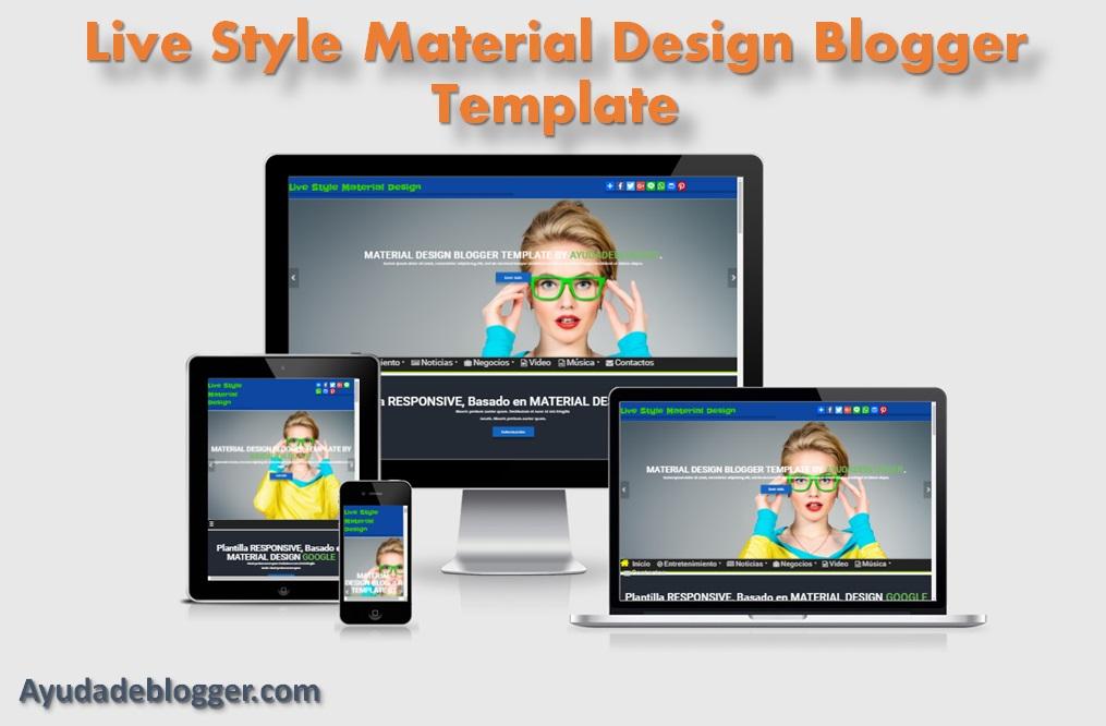 Plantilla Live Style Material Design Blogger