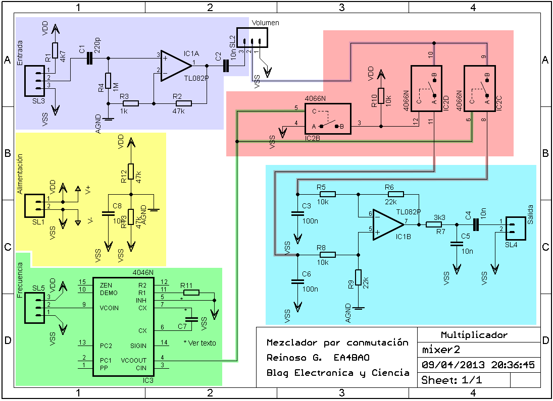 Cd4066 Mixer Audio Circuit Diagram Seekiccom