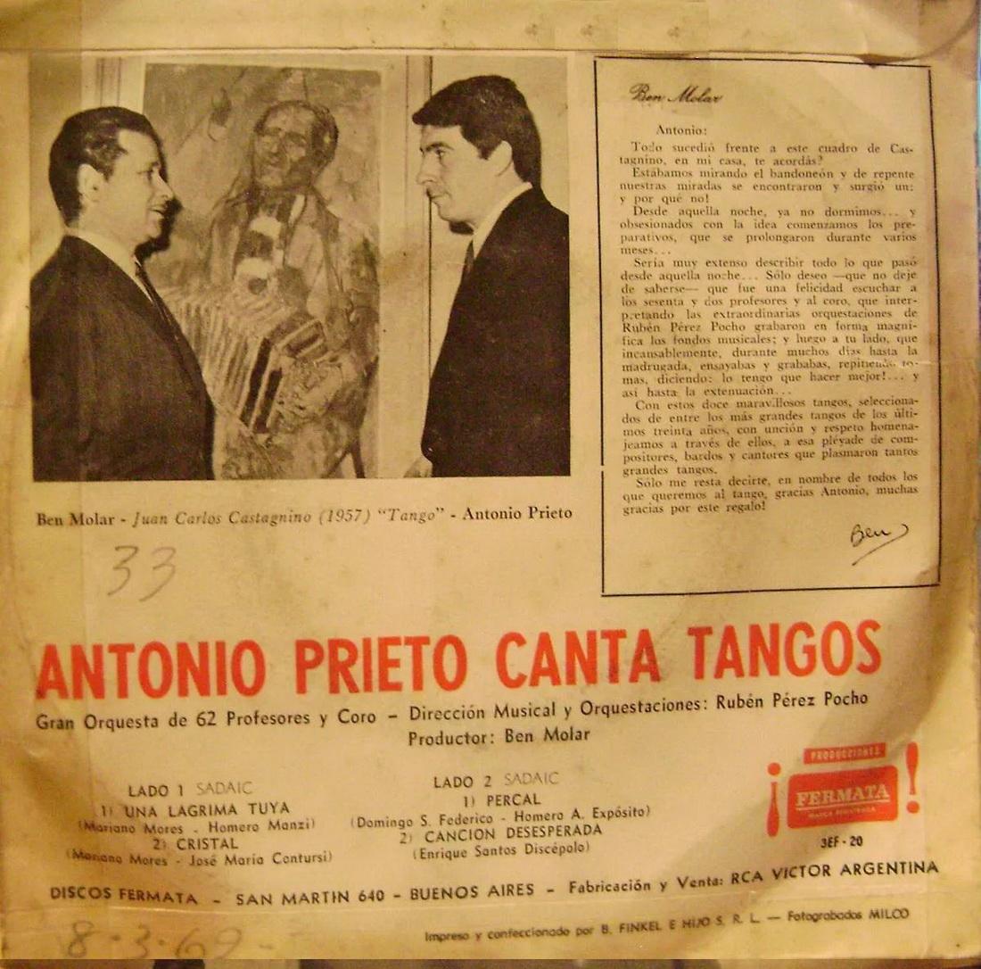 le canzoni di antonio cartagena