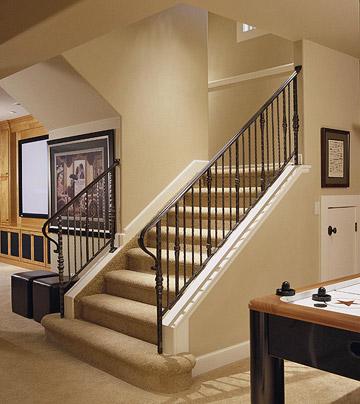 new home interior design basement stairway ideas. Black Bedroom Furniture Sets. Home Design Ideas