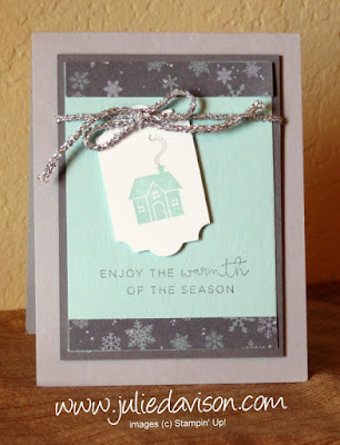 Stampin' Up! Hearts Come Home Christmas Card ~ #PSC09 ~ 2017 Holiday Catalog ~ www.juliedavison.com