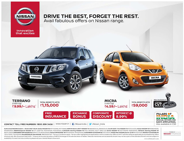 Nissan cars fabulous offers for February 2017