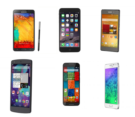 Sony Xperia,Nokia Lumia,Samsung Galaxy,Note 3,LG G3,Motorola Moto,HTC,Apple iPhone 6 Plus,iPhone,Nex