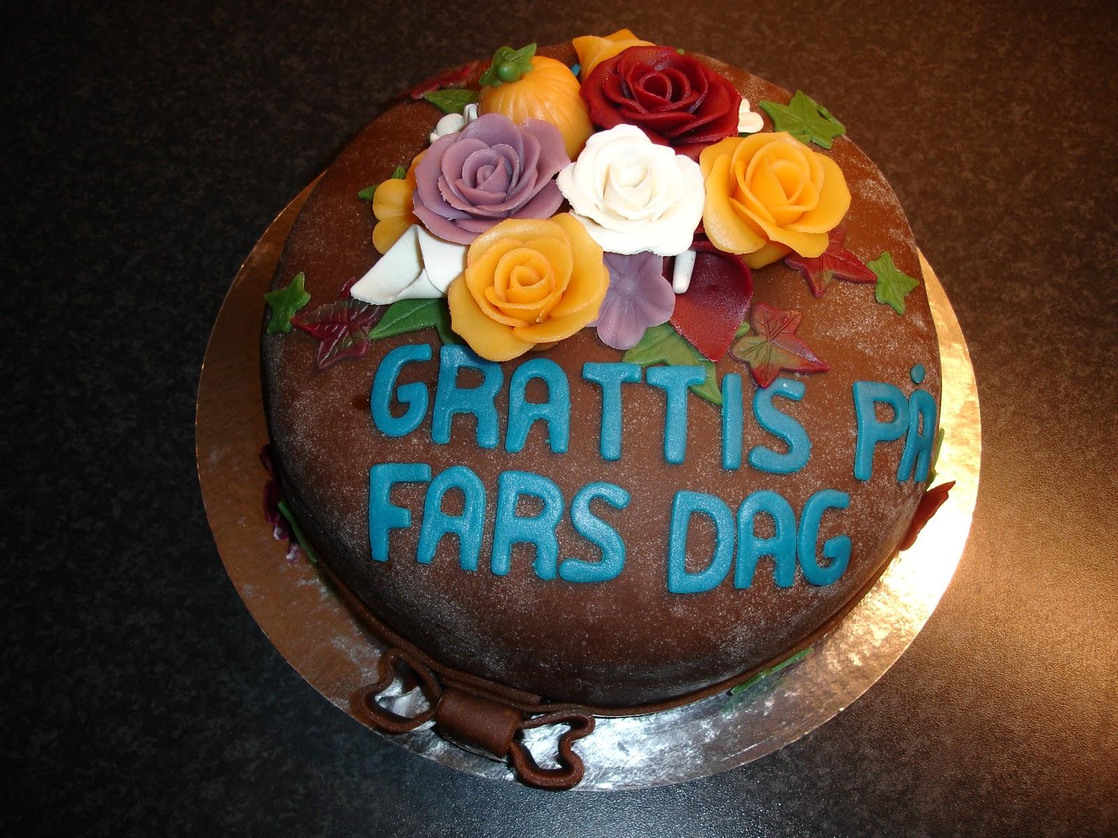 grattis på fars dag Maries Tårtor: Grattis på fars dag tårta till Jennys pappa grattis på fars dag