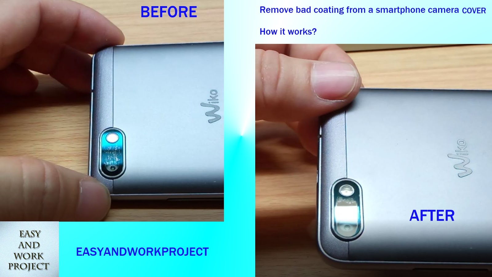 How to remove a scratch from the screen