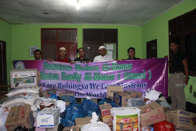 Pesantren Al-Manar Salurkan Bantuan untuk Muslim Rohingya