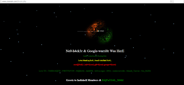 Major VBulletin based websites are vulnerable to Hackers; Pakistani forums defaced by Indian Hackers