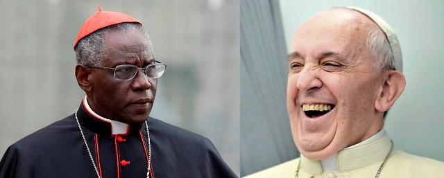 Resultado de imagen para Robert Sarah y el papa francisco