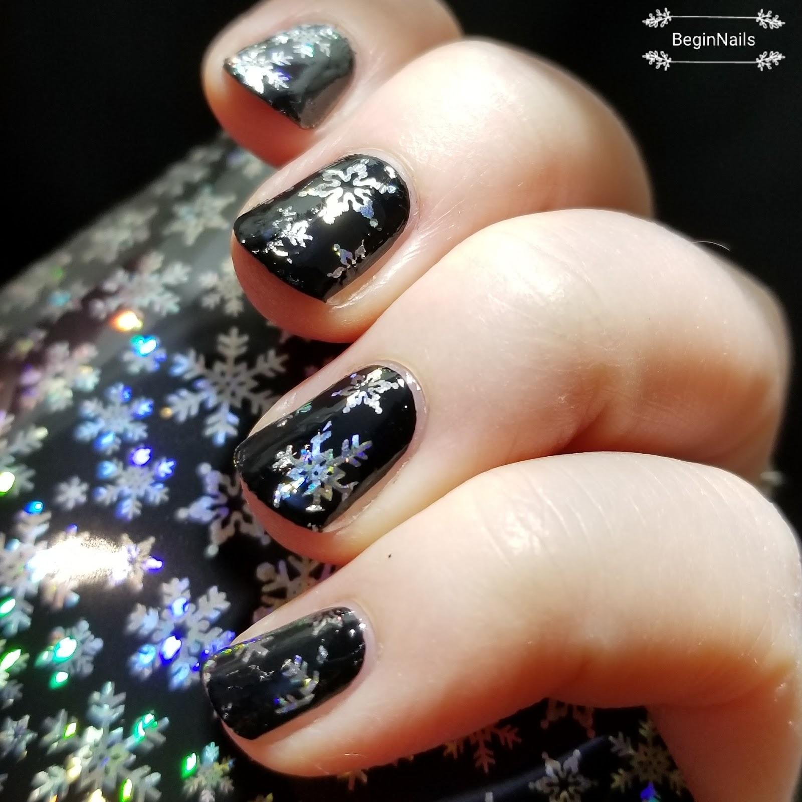 Lets Begin Nails Beauty Bigbang Holographic Christmas Snowflake Foils