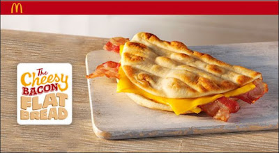 McDonald's Cheesy Bacon Flat Bread