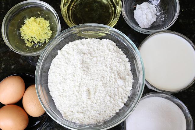 Ingredientes pata panqueques o tortitas