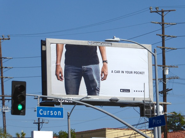 Skurt A car in your pocket billboard