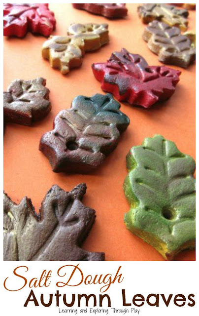 Salt Dough Autumn Leaves