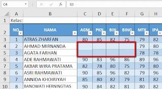 Trik Cara menyembunyikan data dalam sel Excel