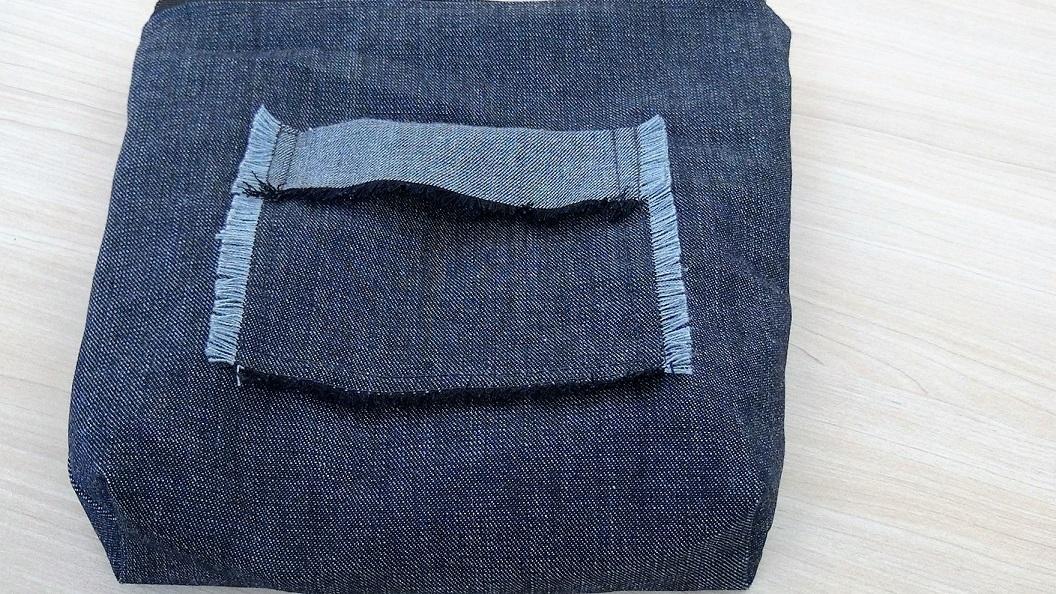 Bolsa De Tecido Jeans Passo A Passo : Montanha azul bolsa de m?o passo a