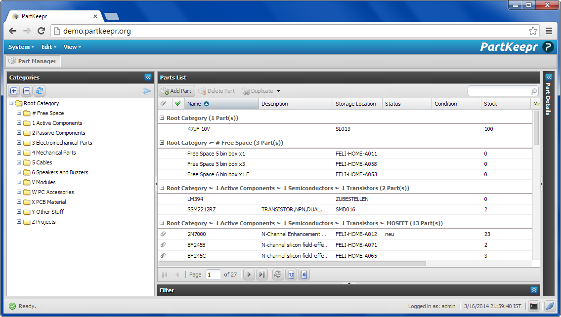 Technology Realm: PartKeepr installation on Ubuntu (or Kubuntu)