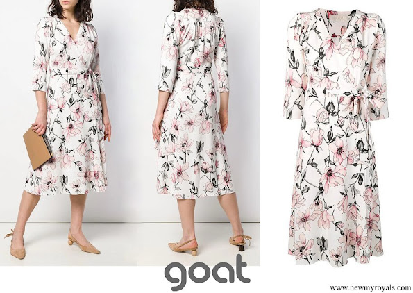 Princess Marie wore GOAT Glenda floral wrap dress
