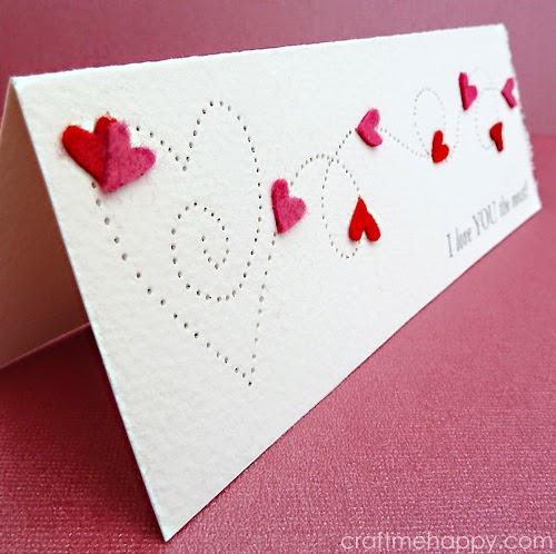 Paper Pierced Valentine S Card Craft Me Happy Paper Pierced