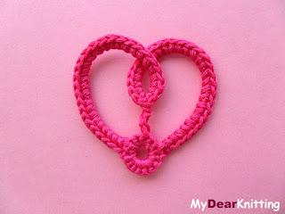 small crochet heart applique pattern