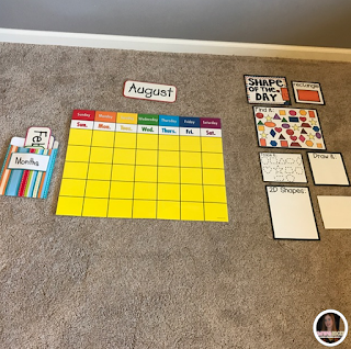 Calendar Ideas for preschool and Kindergarten.  Back to School Ideas.