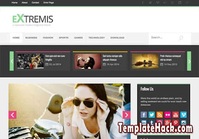 extremis blogger template premium