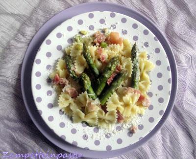 Pasta agli asparagi e speck - Primo piatto con gli asparagi