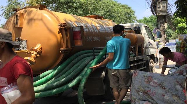 Xe phục vụ dịch vụ hút bể phốt tại Nam Định