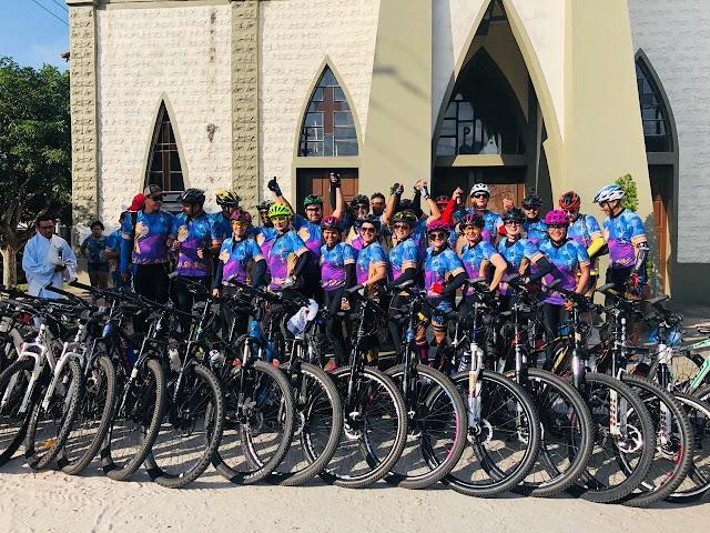 Romaria Ciclística matem tradição de 17 anos pedalando em devoção a Virgem de Nazaré