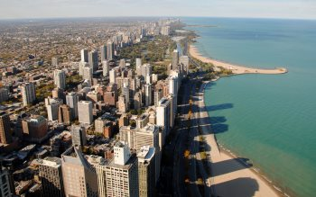 Wallpaper: Gold coast and Michigan lake