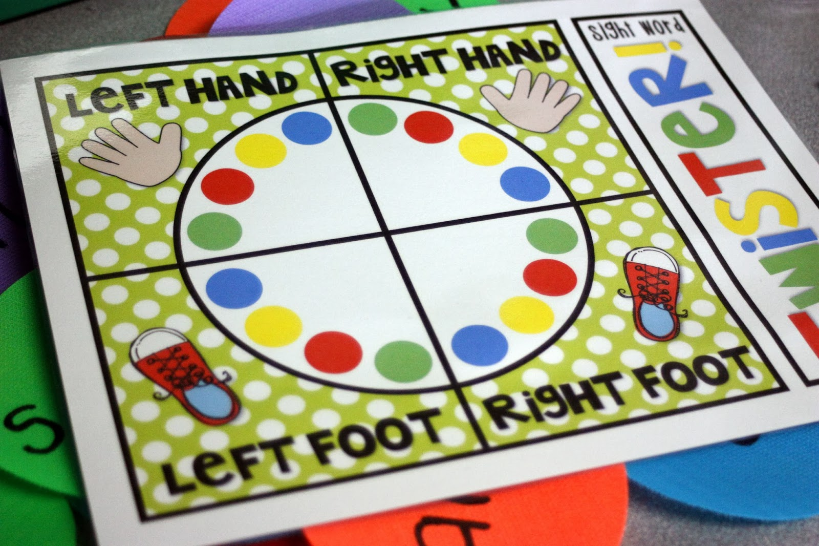 graphic relating to Twister Spinner Printable known as Instructor Bits and Bobs: SitSpots Site Hop and Giveaway!!