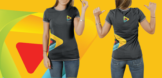 Female T-Shirt PSD Mockup Template           |            Tinydesignr
