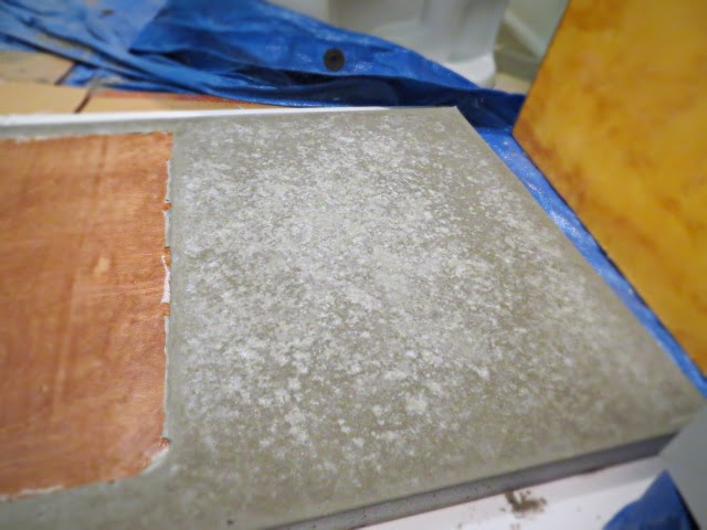concrete curing setting mottled finish smooth