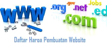 Daftar Harga Pembuatan Website, Harga Pembuatan Website, Biaya Pembuatan Website