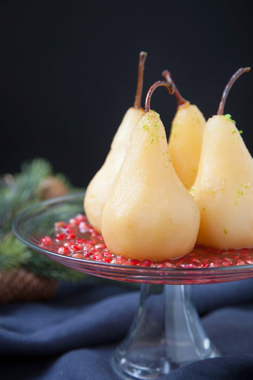 savory nest: Spiced Cranberry Nectar Poached Pears {for