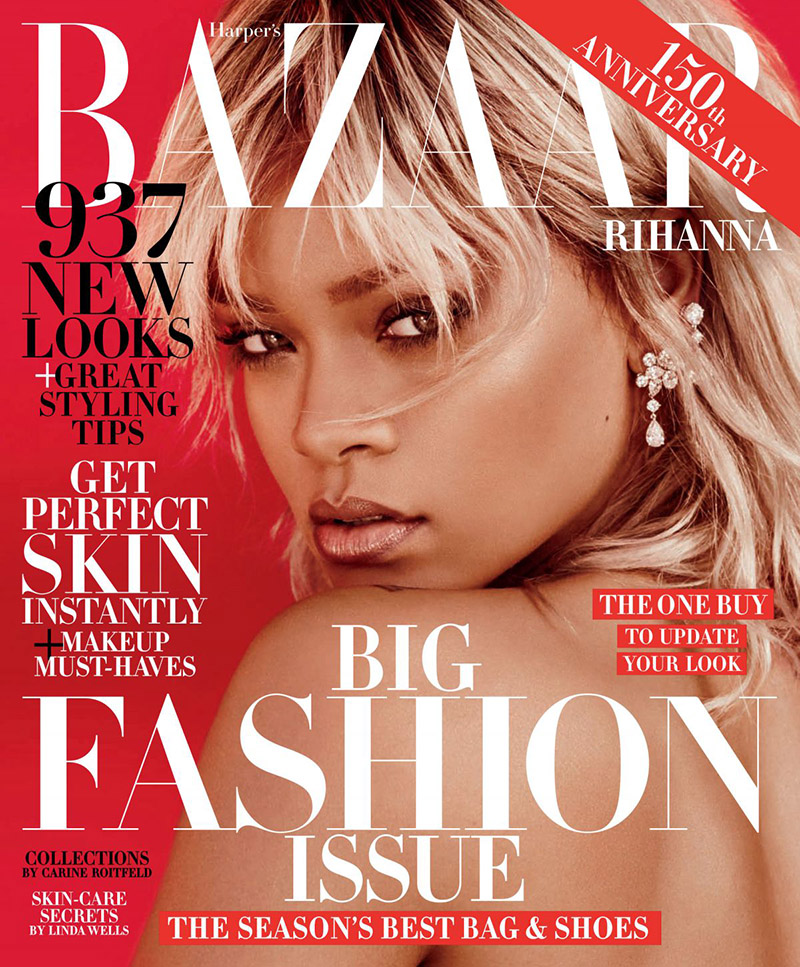 Rihanna in Harper's Bazaar Magazine, March 2017 Issue