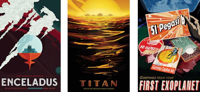 Posters de viagem espacial - NASA 3