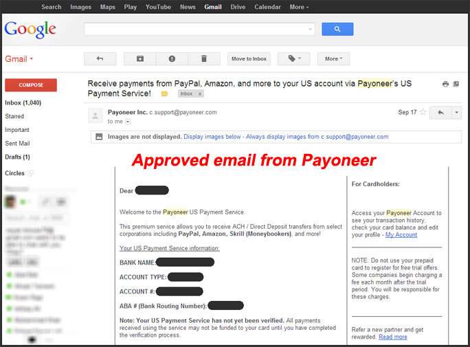 Payoneer MasterCard: Verified PAYPAL In Unsupported Countries