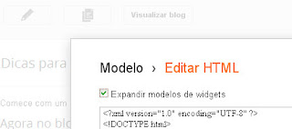 expandir modelo de widgets no html do blogger