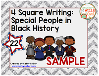 """Give them tools, not excuses."" 4 Square Writing for Special People in Black History. These mats can help students write early biographies with independence."
