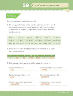 Respuestas Apoyo Primaria Desafíos Matemáticos 5to Grado Bloque IV Lección 59 Los números romanos
