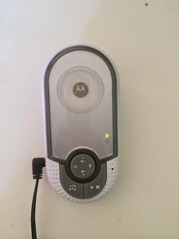 baby unit on a motorola baby noise monitor