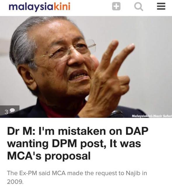 Gara Gara Mahathir Celupar, Mahathir Cuba Salahkan MCA #MCA