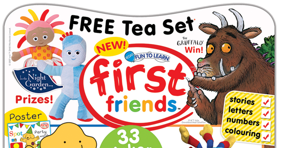 First Friends magazine is the only multi-character magazine which is aimed specifically at toddlers and parents.